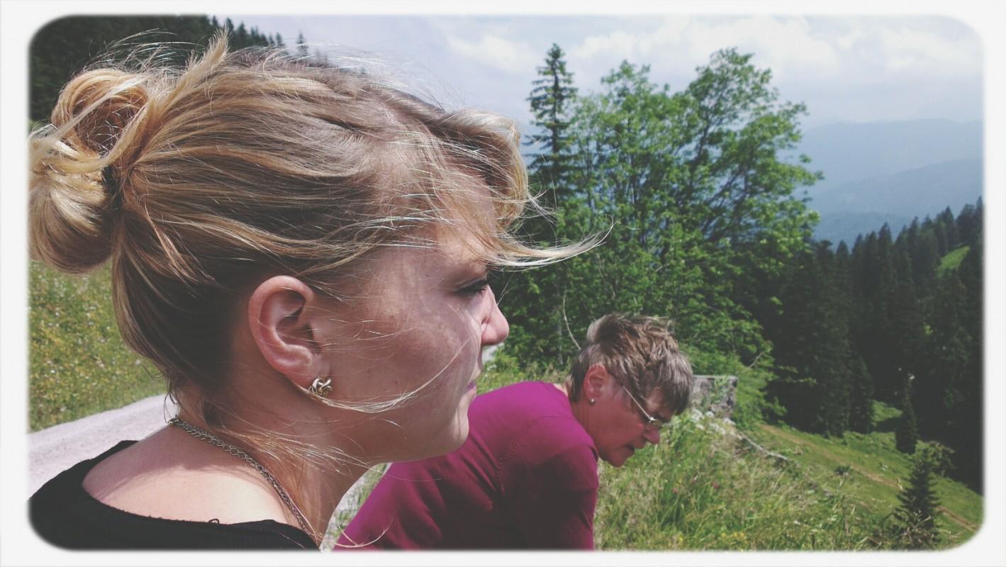 Müde Family auf dem Brauneck