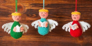 Choir of Angels Christmas Ornaments Crochet Pattern // flicrpicture by