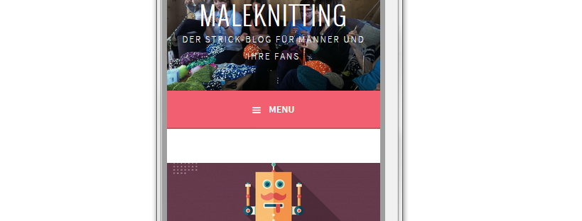 Mobile Version des Blogs Maleknitting