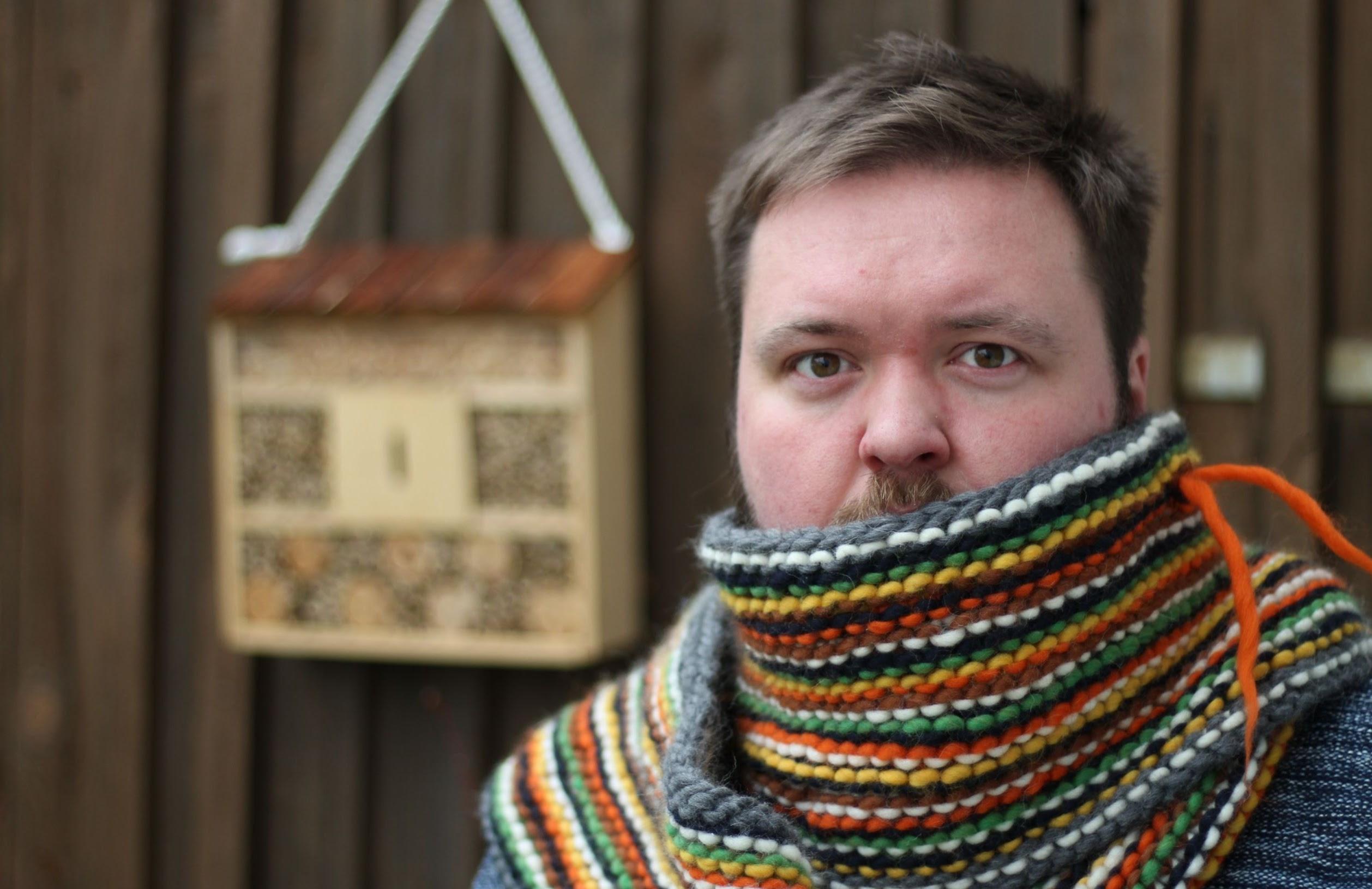 Der Schal fürs Leben 2016 wird quer gestrickt