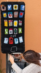 """iPhone yarnbomb"" // flicrpicture by: LornaWatt"