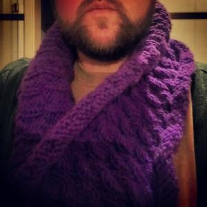 fertiger Schal an mir