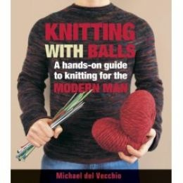 male knitting