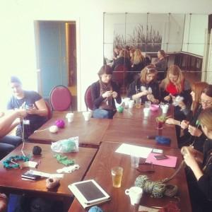 Strick Session auf dem #bcruhr Instagram Bild von Punktefrau